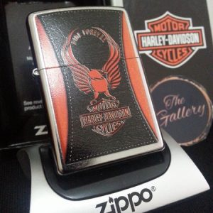 Zippo 28823 – Zippo HD Harley Davidson Orange Eagle Ride Forever 1