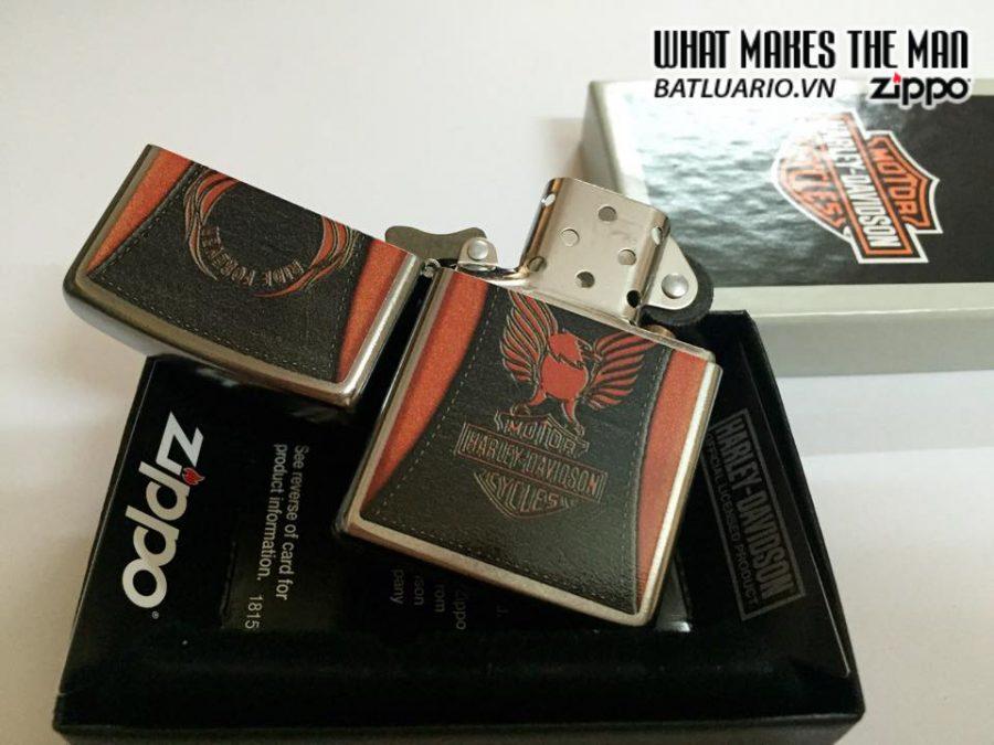 Zippo 28823 – Zippo HD Harley Davidson Orange Eagle Ride Forever 4