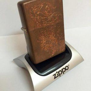Zippo Copper 03 Acid Ăn Mòn Cá Koi Nhật 5