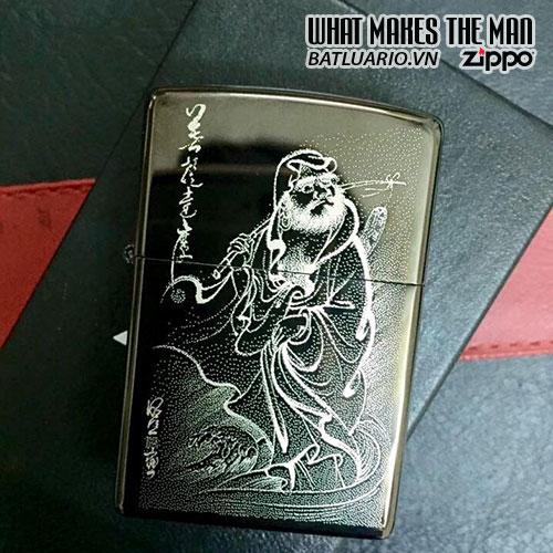 Zippo khắc Đạt Ma Sư Tổ - Zippo 24756.DMST