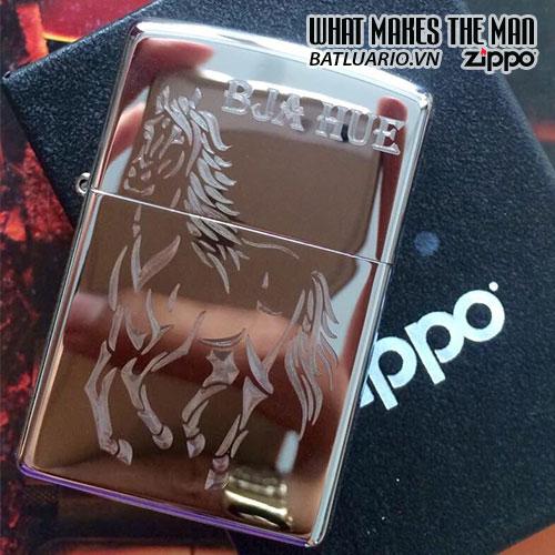 Zippo khắc Ngựa 03 - Zippo 250.NGUA03