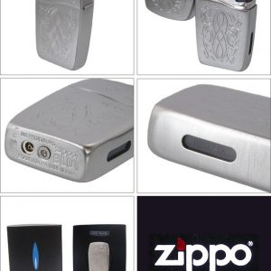 Zippo 30037 – Zippo BLU Entwined Vertical Brushed Chrome 5