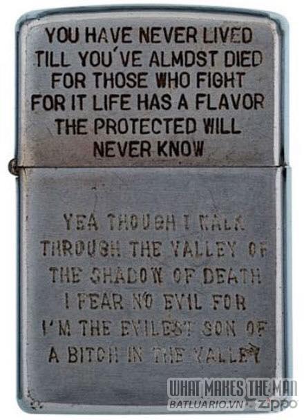 Bộ sưu tập Zippo ĐỘC của lính Mỹ trong chiến tranh Việt Nam 1