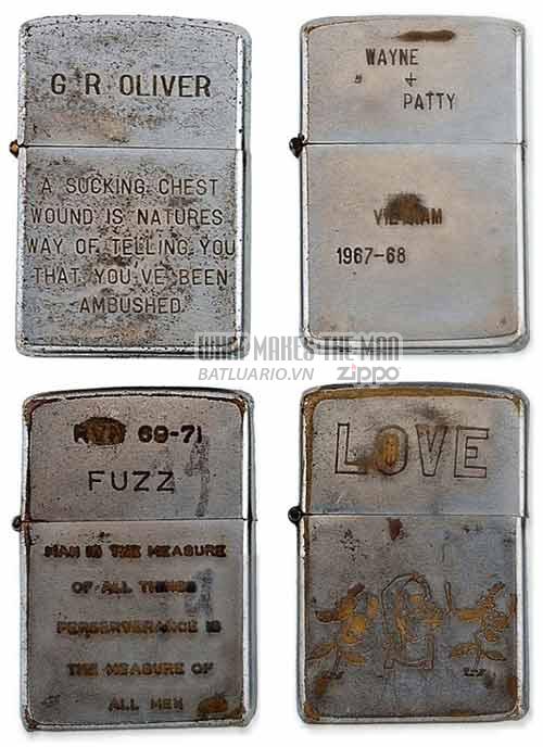 Bộ sưu tập Zippo ĐỘC của lính Mỹ trong chiến tranh Việt Nam