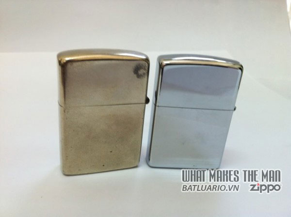 Zippo bạc niken và Zippo mạ chrome