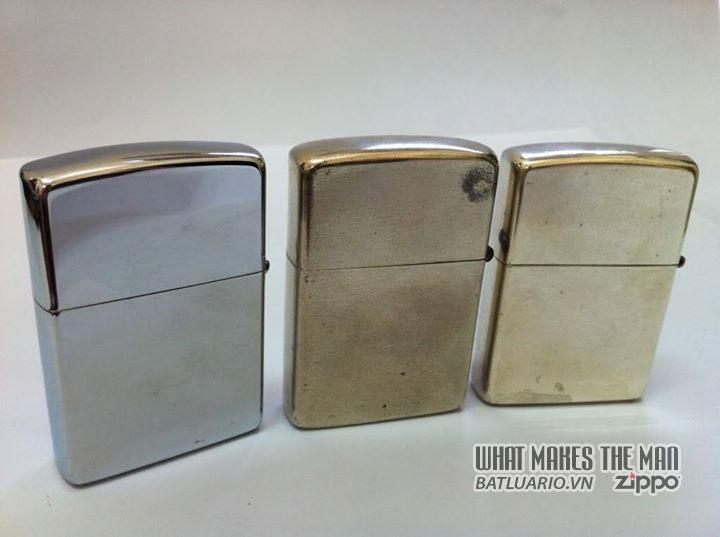 Zippo mạ chrome - Zippo bạc niken - Zippo bạc khối