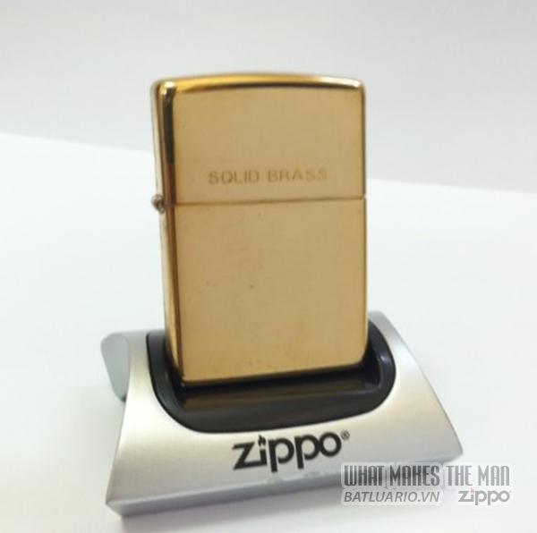 Zippo solid Brass - Đồng thau 1