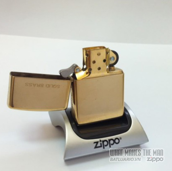Zippo solid Brass - Đồng thau2