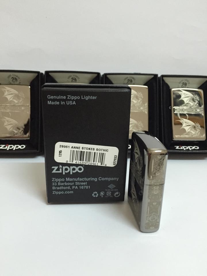 Zippo 28961 - Zippo Anne Stokes Gothic Black Ice Laser Engrave 2
