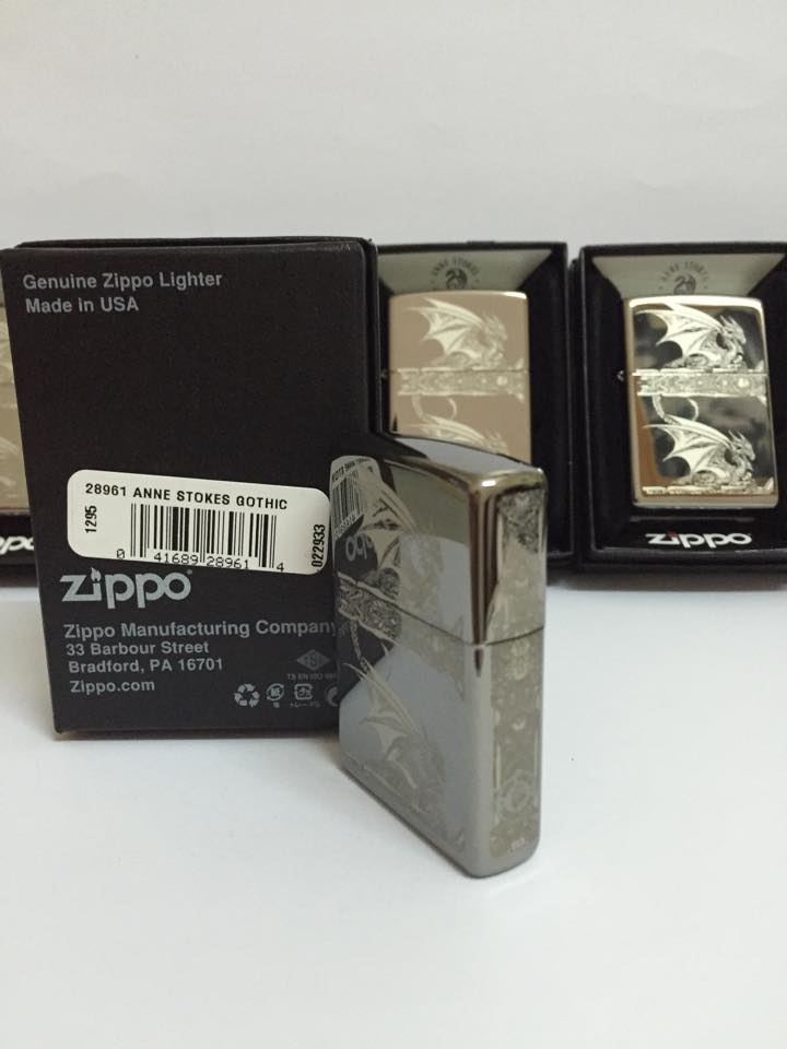 Zippo 28961 - Zippo Anne Stokes Gothic Black Ice Laser Engrave 5