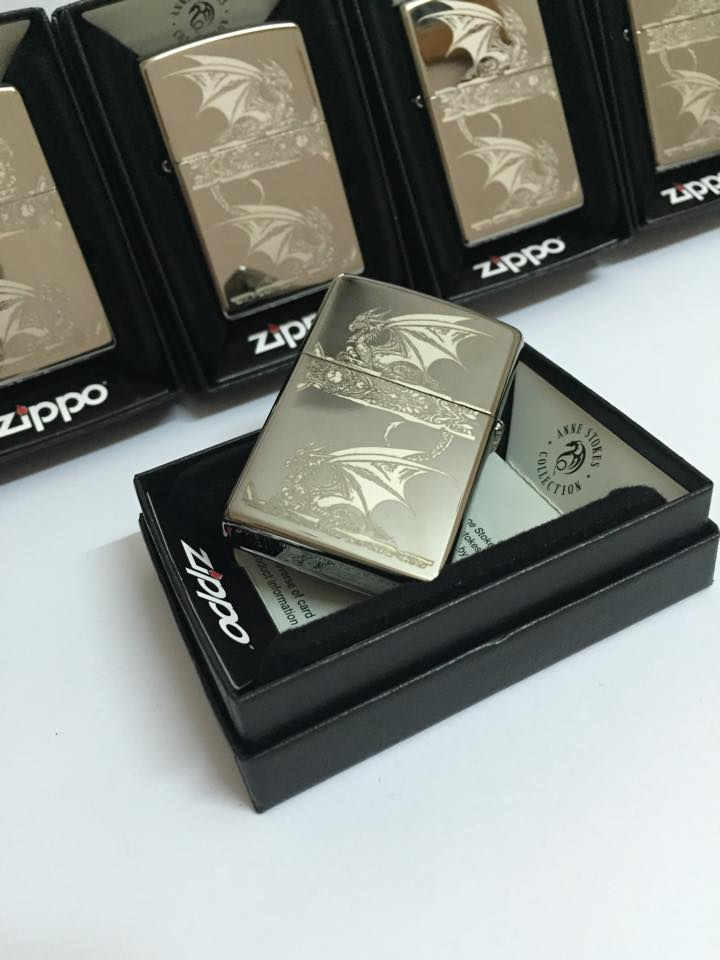 Zippo 28961 - Zippo Anne Stokes Gothic Black Ice Laser Engrave 6