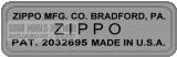 Mẫu Zippo 1946 bằng bạc nickel