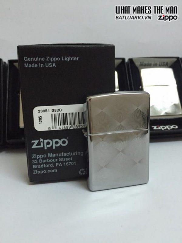 Zippo 28951 – Zippo Deco Diamond Patterns High Polish Chrome