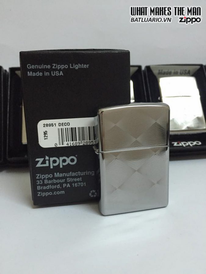 Zippo 28951 – Zippo Deco Diamond Patterns High Polish Chrome