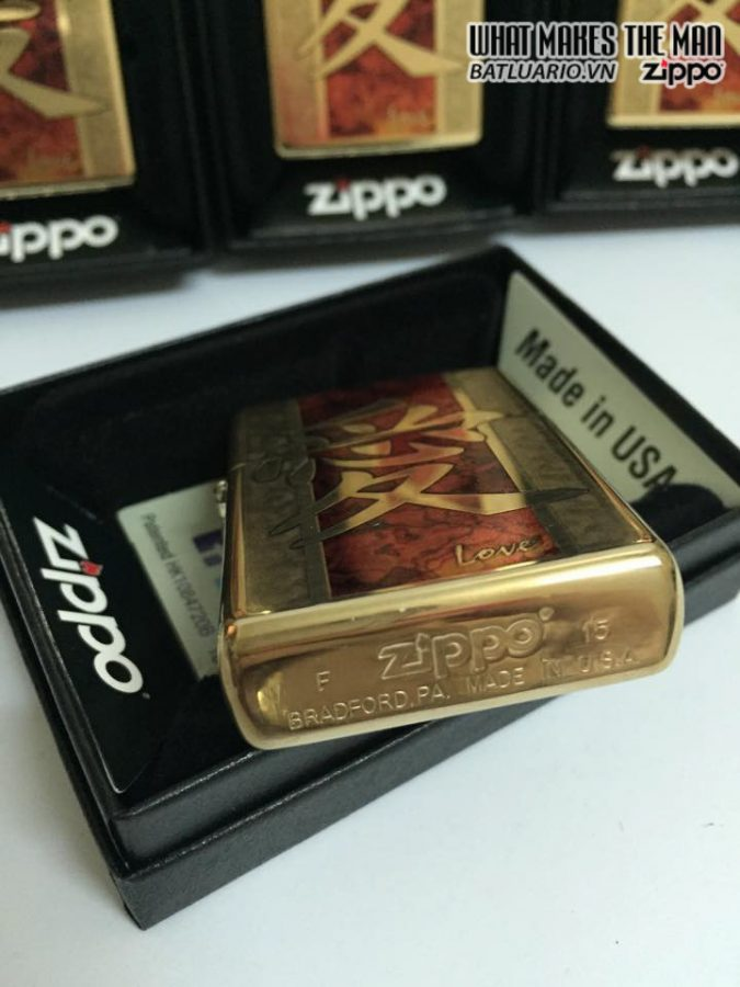 Zippo 28953 – Zippo Chinese Love High Polish Brass Fusion