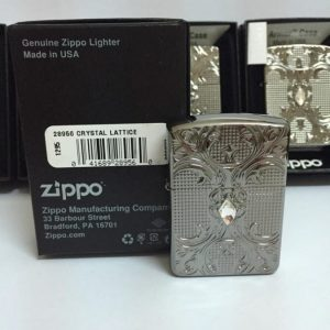 Zippo 28956 – Zippo Crystal Lattice Armor High Polish Black Ice