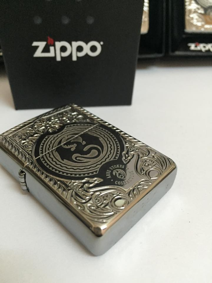 Zippo 28962 - Zippo Anne Stokes Dragon Circle Armor High Polish Chrome 3