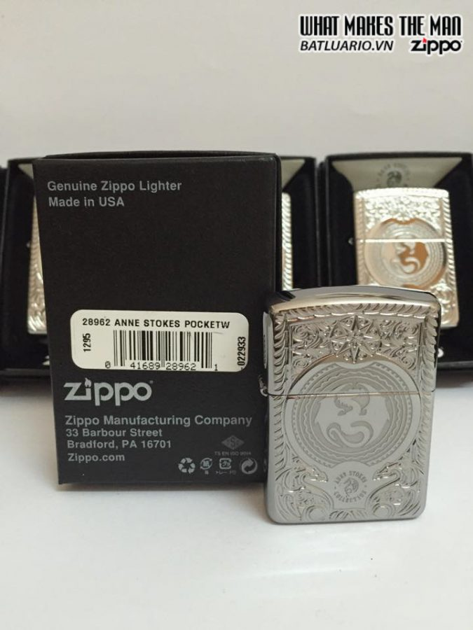 Zippo 28962 – Zippo Anne Stokes Dragon Circle Armor High Polish Chrome