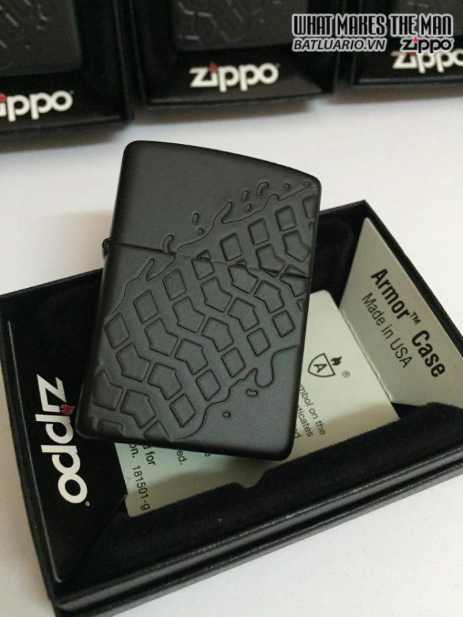 Zippo 28966 – Zippo Tire Tread Black Matte Armor