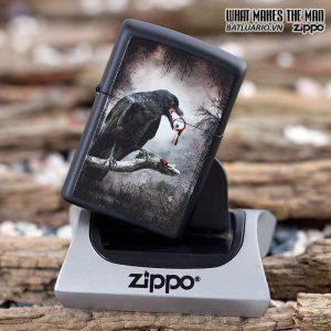 Zippo 28434 – Zippo Goth Raven Eyeball Black Matte