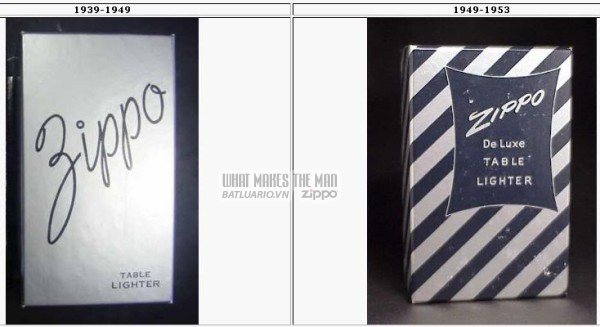 vỏ hộp zippo 1939-1953