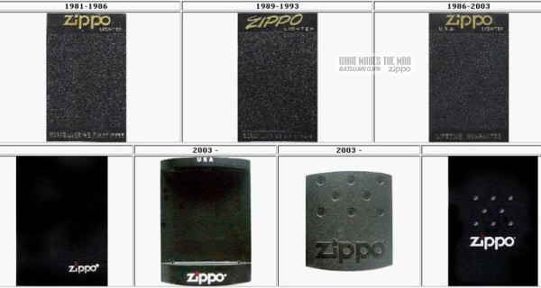 vỏ hộp zippo 1981-2003