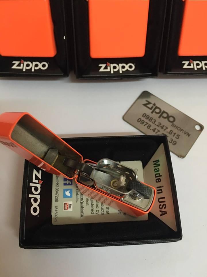 Zippo 28888ZL - Zippo Plain with Logo Neon Orange Matte 2