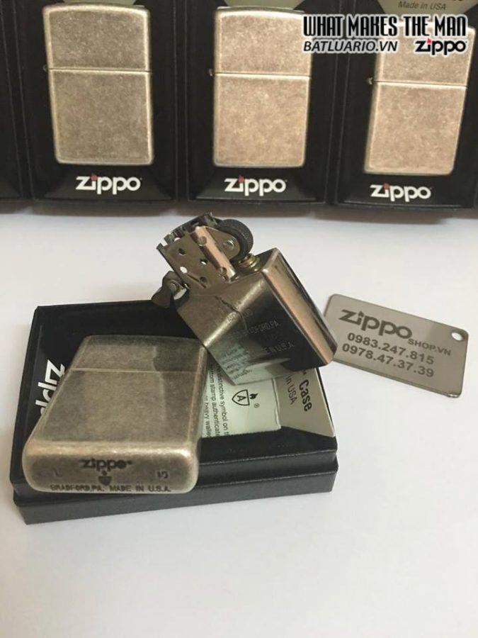Zippo 28973 – Zippo Armor Antique Silver Plate