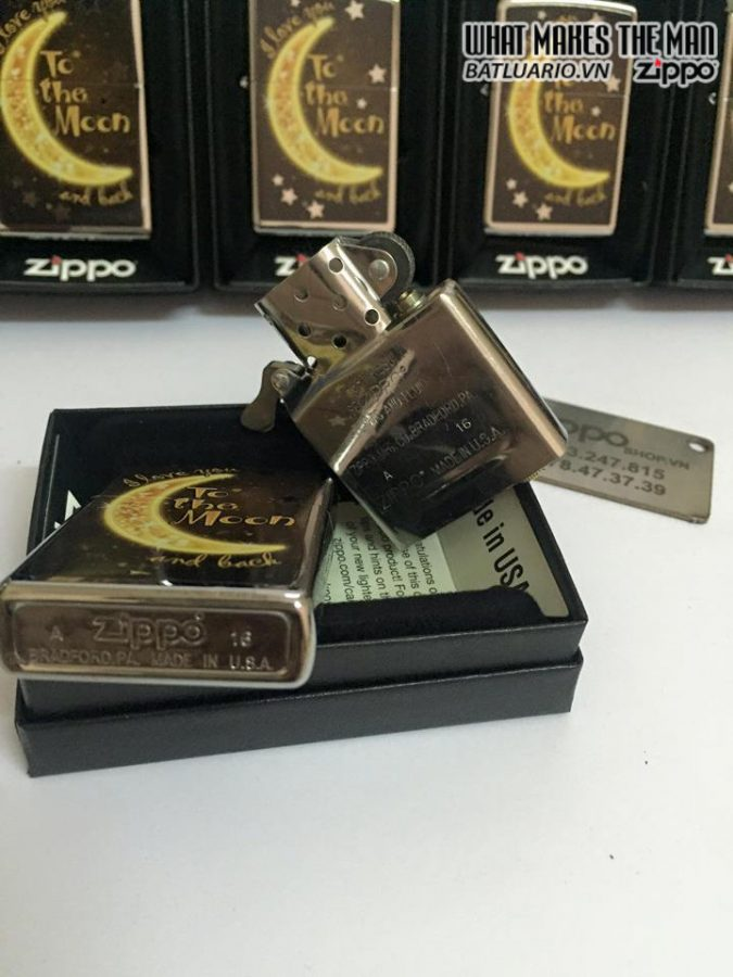 Zippo 29059 – Zippo Golden Moon Polished Chrome
