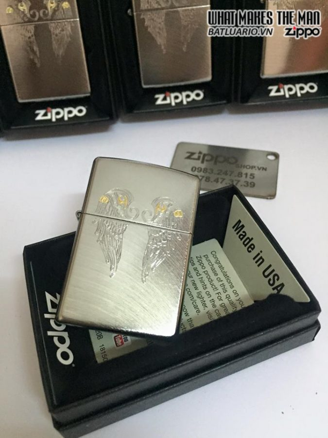 Zippo 29069 – Zippo Angel Wings Chrome Arch