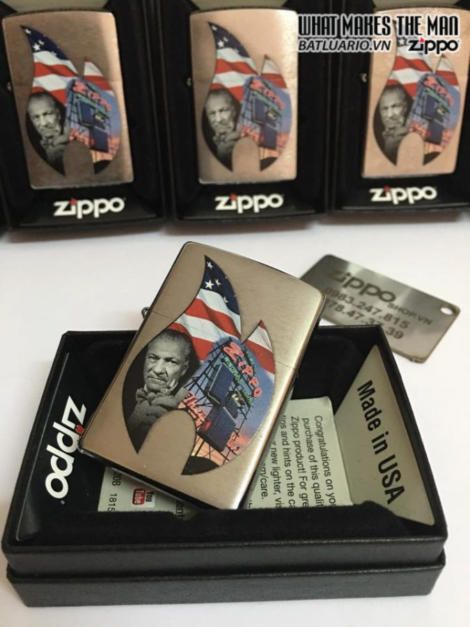Zippo 29075 – Zippo Flame Collage Brushed Chrome