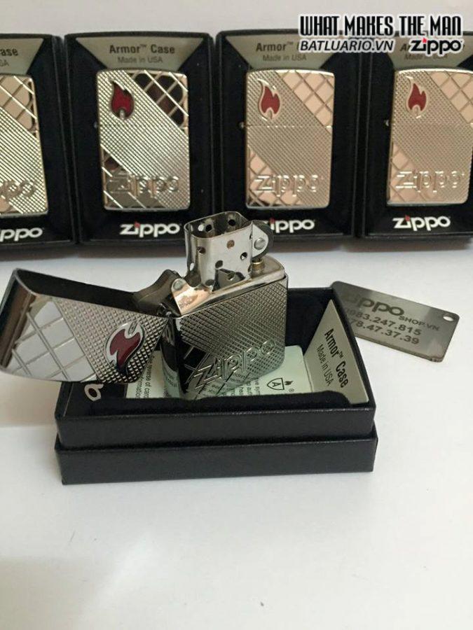 Zippo 29098 – Zippo Armor Tile Mosaic Polished Chrome