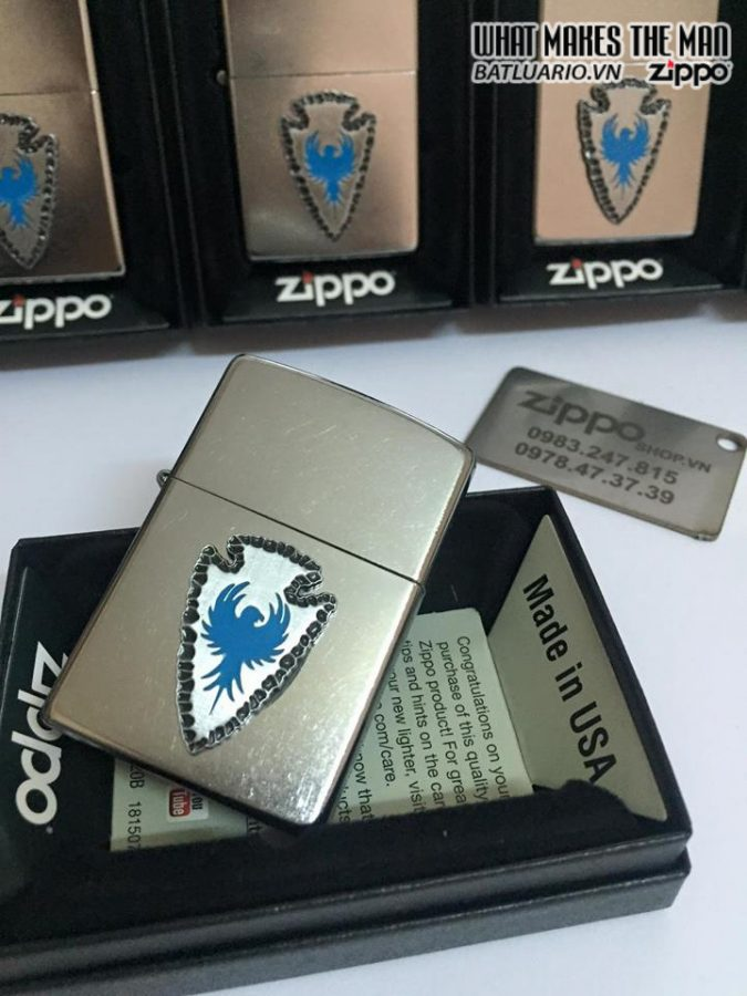 Zippo 29101 – Zippo Arrowhead Emblem Street Chrome