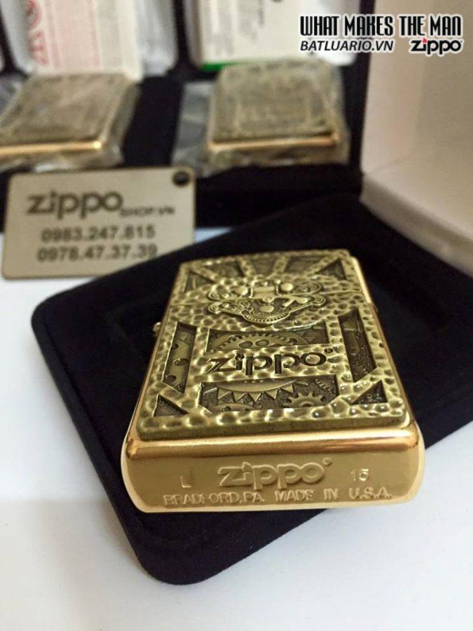 Zippo 29103 – Zippo Steampunk Box Emblem Brushed Brass