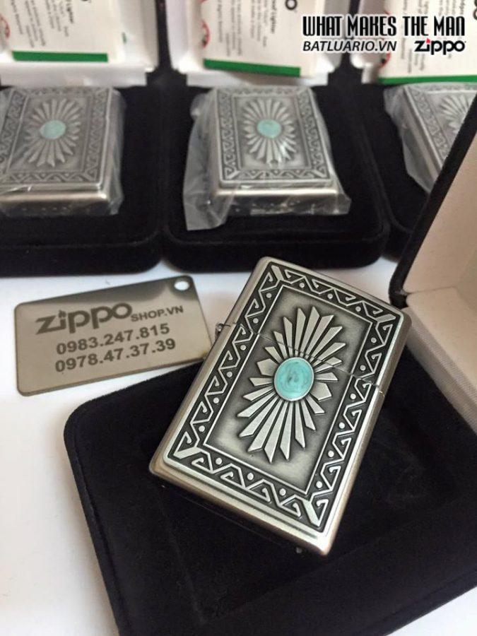 Zippo 29105 – Zippo Emblem Southwest Sun Satin Chrome
