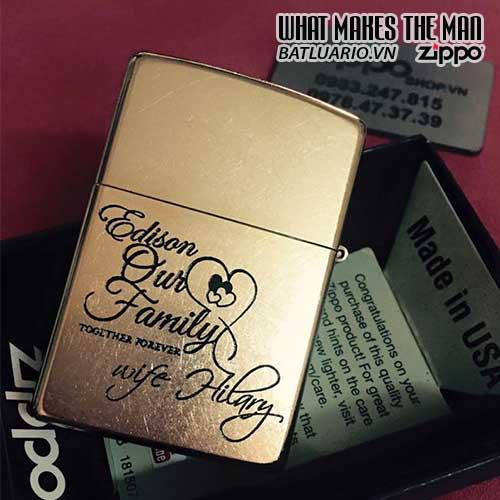 ZIPPO KHẮC FAMILY – ZIPPO 207G.FAMILY