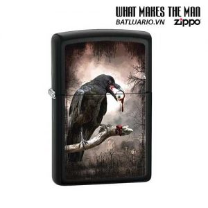 Zippo 28434 - Zippo Goth Raven Eyeball Black Matte