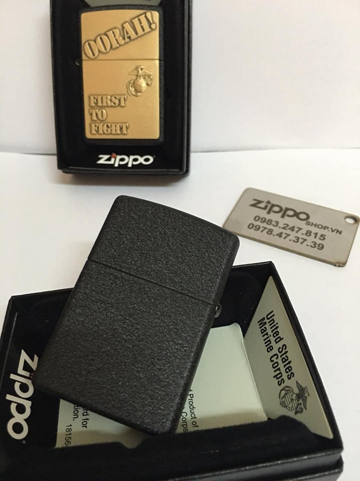 Zippo 28368 - Zippo First to Fight Black Crackle 2