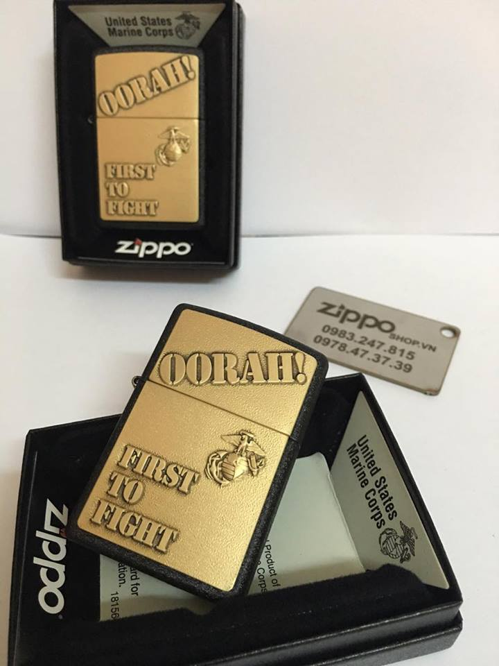 Zippo 28368 - Zippo First to Fight Black Crackle 3