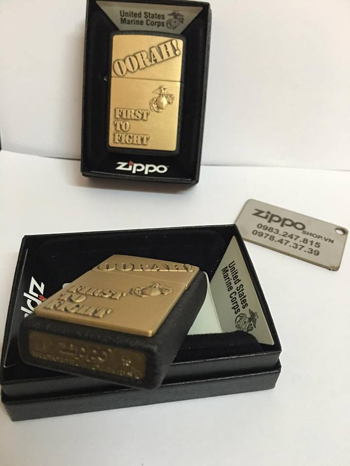 Zippo 28368 - Zippo First to Fight Black Crackle 5