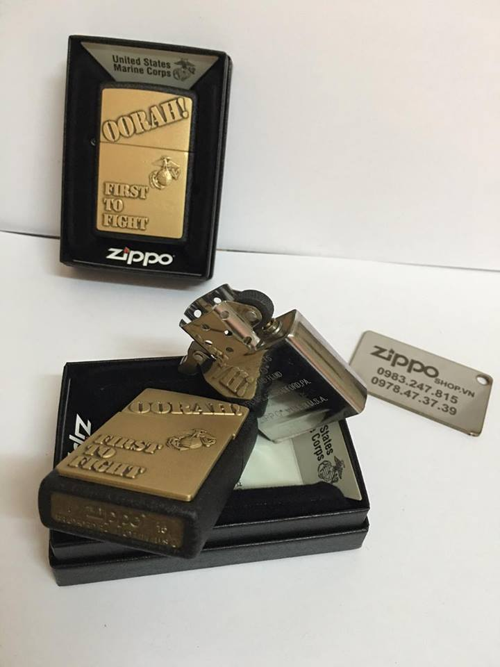 Zippo 28368 - Zippo First to Fight Black Crackle 7