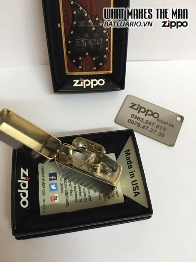 Zippo 28832 – Zippo Leather Flame Gold Dust 2