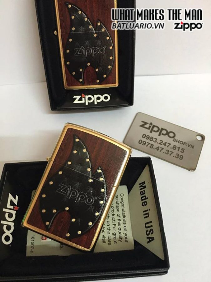 Zippo 28832 – Zippo Leather Flame Gold Dust 5