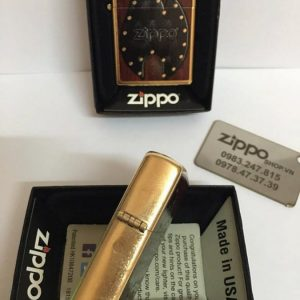 Zippo 28832 – Zippo Leather Flame Gold Dust 6