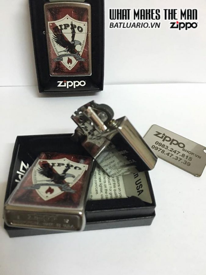Zippo 28867 – Zippo Shield Street Chrome 1