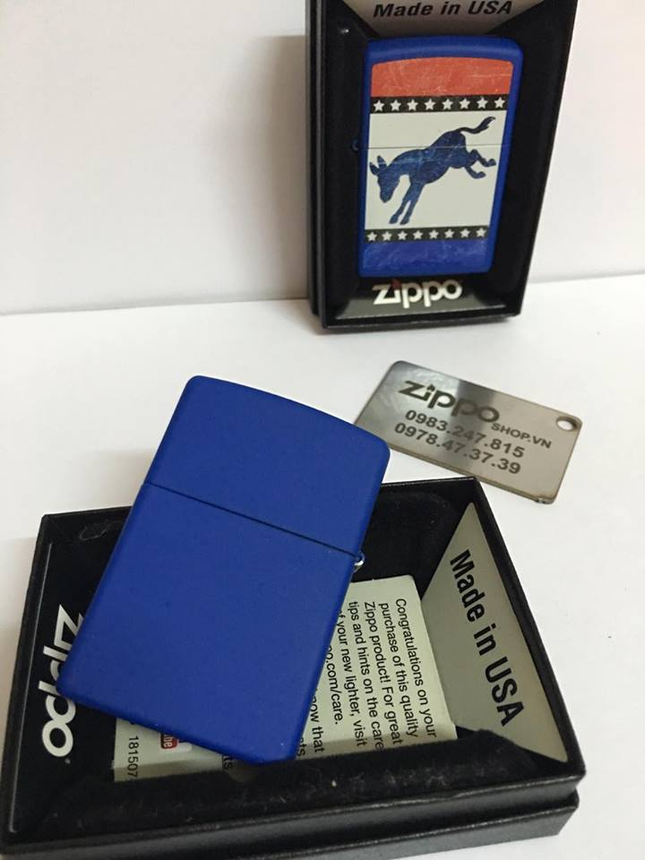 Zippo 29166 - Zippo Democrat Party Elephant Royal Blue Matte 6