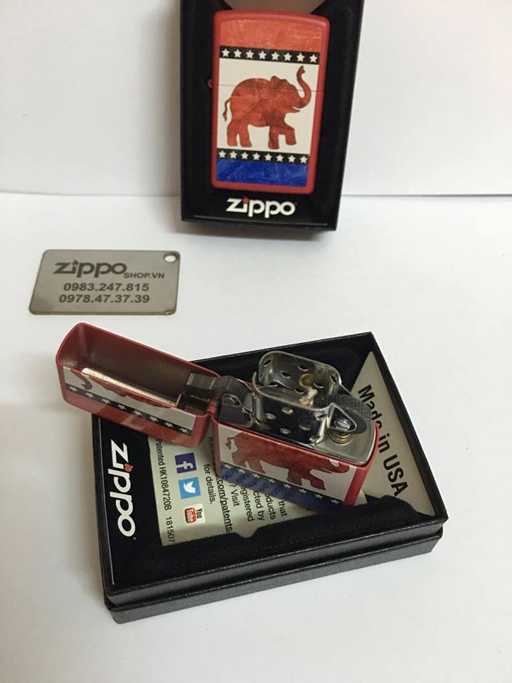 Zippo 29167 - Zippo Republican Party Elephant Red Matte 1