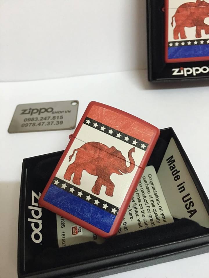 Zippo 29167 - Zippo Republican Party Elephant Red Matte 3