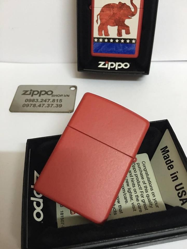 Zippo 29167 - Zippo Republican Party Elephant Red Matte 5
