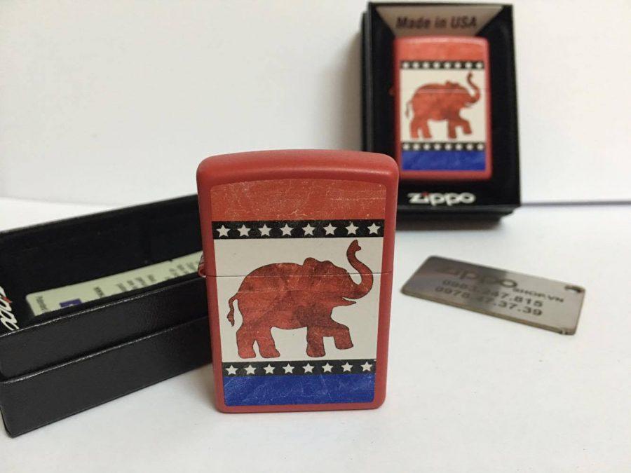 Zippo 29167 - Zippo Republican Party Elephant Red Matte 7